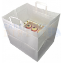 White paper carrier bag, for 12 cupcakes box