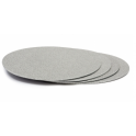 Cake board silver,  30 cm diameter, 3 mm thick