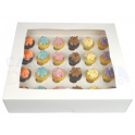 Cupcakes Box white, Mini, 24-cavity with inserts