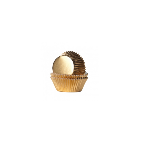 Baking Cups Micro size golden, 180 pieces