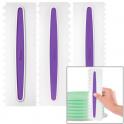 Wilton - Icing combs, set of 3