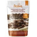 Decora - Chocolat brun (32% de cacao), en pistoles, 250 g