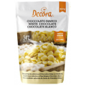 Decora - Chocolate drops, white chocolate, 250 g