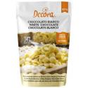 Decora - Chocolate drops, white chocolate, 250 g