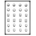 CK - Moule à bonbon/isomalt, bijoux moyen, 24 cavités