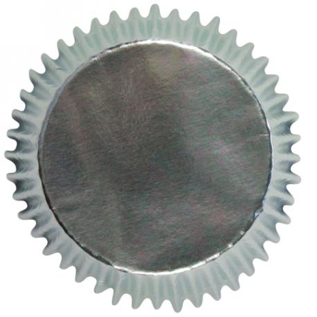 Mini Cupcake Cups Silver, 45 pieces