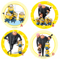 Wafer paper disc Minions MM&M, 21 cm