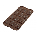 Silikomart - Moule Choco mini tablette, 12 cavités