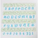 FMM Emporte-pièce Alphabet majuscule & chiffres gothique, 25/45 mm
