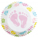 Wilton Baking Cups Baby Feets, 75 pieces