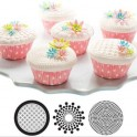 Cupcake and cookie texture tops geometric, set of 3