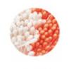 Decora - Blumenstempel perlweiss & orange, 288 Stück