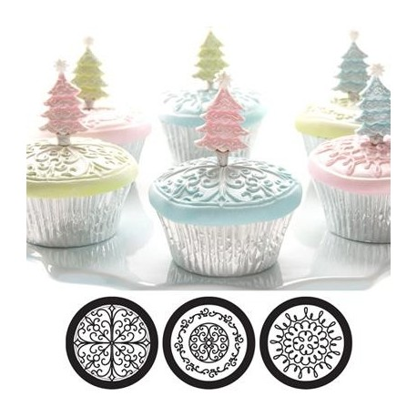 Cupcake and cookie texture tops Scroll