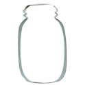 Cookie Cutter Mason Jar, approx. 11 cm