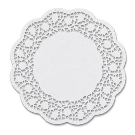 Staedter - Napperons blancs rond, 28 cm, 10 pièces