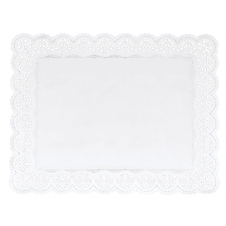 Staedter - Napperons blancs rond,  46 x 36 cm, 4 pièces