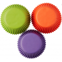 Cupcake baking cups solid Halloween colors, 75 pieces