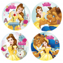Wafer paper disc Beauty & the Beast, 21 cm