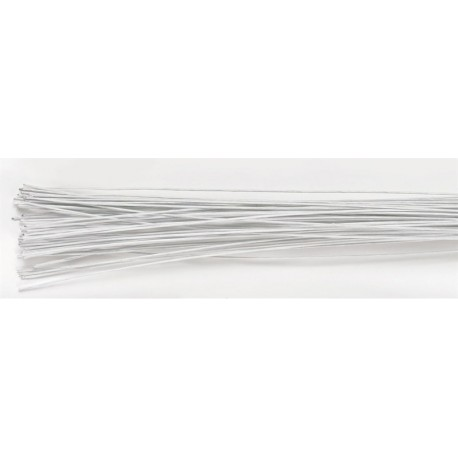 Culpitt- White Cloth Covered Wire for Flowers, 22 Gauge, 38 cm, 20 pieces
