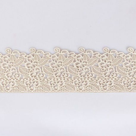 House of Cake - Decorating Lace floral pearl, 38 x 7,5 cm