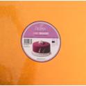 Kuchenplatte quadratisch orange, 30 cm, 12 mm dick