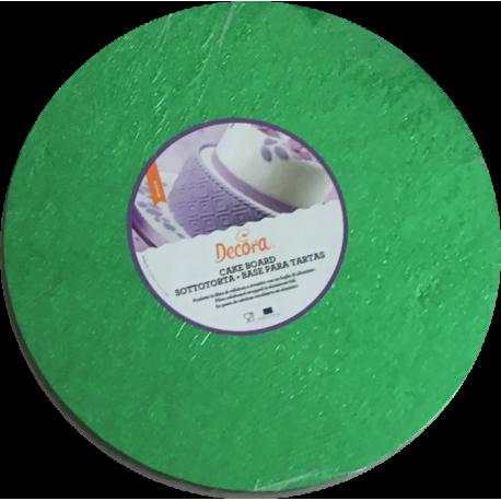 Planche vert intense ronde, dia. 30 cm, épaisseur 1.2 cm