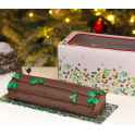 Culpitt - Holly Log Box & Card Combo, 12''
