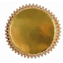 Caissettes mini cupcakes doré, 45 pièces