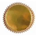 Mini Cupcake Backförmchen Gold, 45 Stück