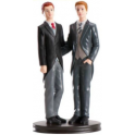 Dekora - Wedding cake topper couple of men