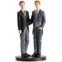Dekora - Wedding cake topper couple of men