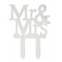 "Culpitt ""Mr & Mrs"" cake topper, 1 piece"