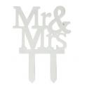 """Culpitt """"Mr & Mrs"""" cake topper, 1 piece"""