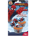 Cupcake toppers Spiderman, 16 toppers, 3.4 cm dia