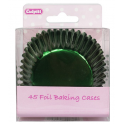 Cupcake Cups Green Foil, 45 pieces