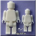 Brick men silicone mould, 2 cavities