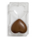 Plastic mold for chocolate heart, , 91.5 x 101 mm, 2 cavities