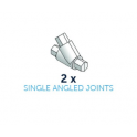 Cake Frame - Single angled joints pack, 2 pieces