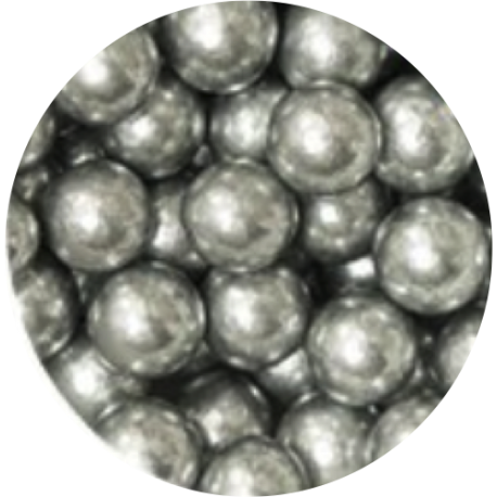 Decora Edible Pearls Silver 8 mm, 100 g