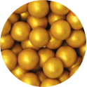 Decora Edible Pearls golden 8 mm, 100 g
