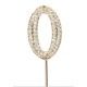 """Number 0 """"diamante"""" gold, 45 mm high"""