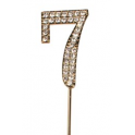"""Number 7 """"diamante"""" gold, 45 mm high"""