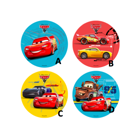 Wafer paper disc Cars, 21 cm