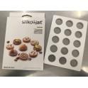 Silikomart - Moule chablon silicone, 15 cavités