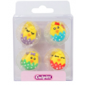 Culpitt Icing Decorations Cute Baby Chicks, 12 pieces