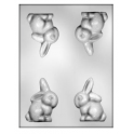 CK - Plastic mold for chocolate bunny, 4 cavities