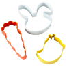 Wilton - Cutter Set Rabbit, Chick & Carrot, 3 pieces