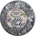 Crystal Candy - Flocons scintillants comestible, argent, 6 g