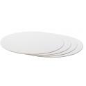 Planche blanche ronde, diamètre 36 cm, épaisseur 3 mm