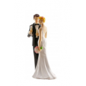 Dekora - Wedding cake topper couple champagne